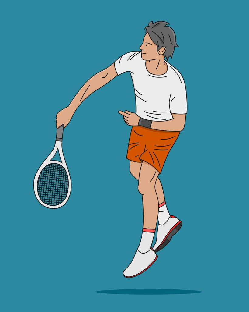 tennis, racquet, swing